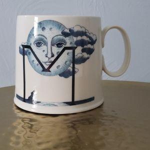 Anthropologie 'M' Moon Mug
